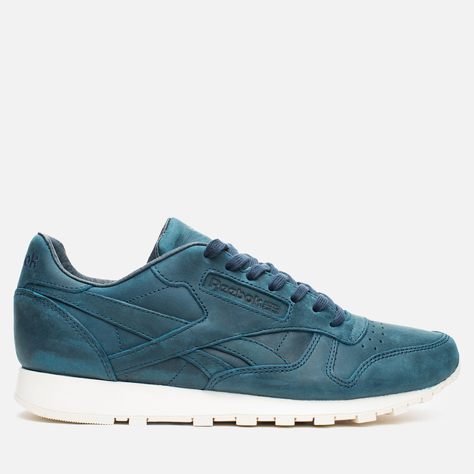 Мужские кроссовки Reebok Classic Leather Lux Navy/Olympic Creme