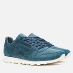 Мужские кроссовки Reebok Classic Leather Lux Navy/Olympic Creme фото- 1