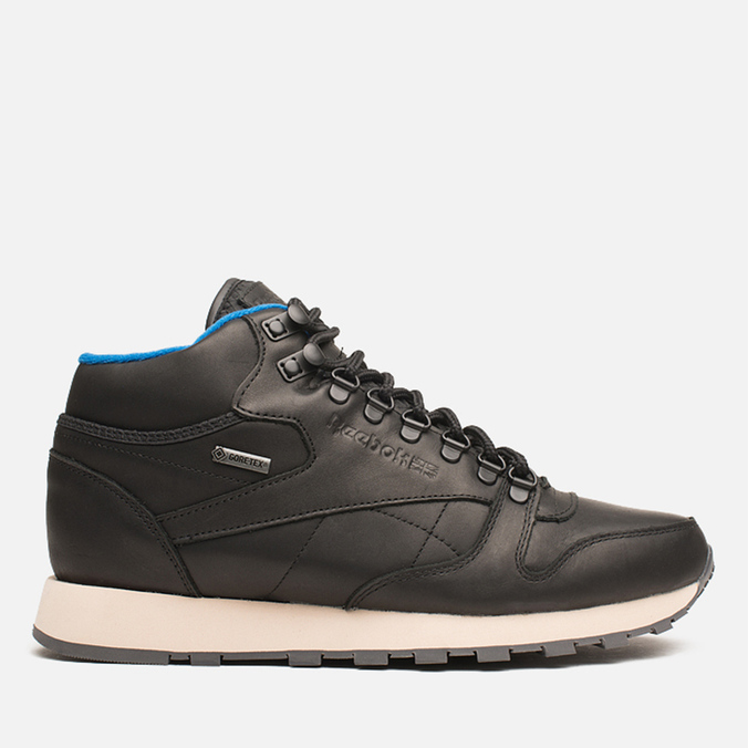 Мужские кроссовки Reebok Classic Leather Mid Gore-Tex Black/Pebble/Blue