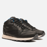 Мужские кроссовки Reebok Classic Leather Mid Gore-Tex Black/Pebble/Blue фото- 1