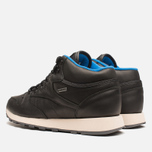 Мужские кроссовки Reebok Classic Leather Mid Gore-Tex Black/Pebble/Blue фото- 2