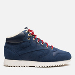 Мужские кроссовки Reebok Classic Leather Mid Ripple WW Navy/White фото- 0