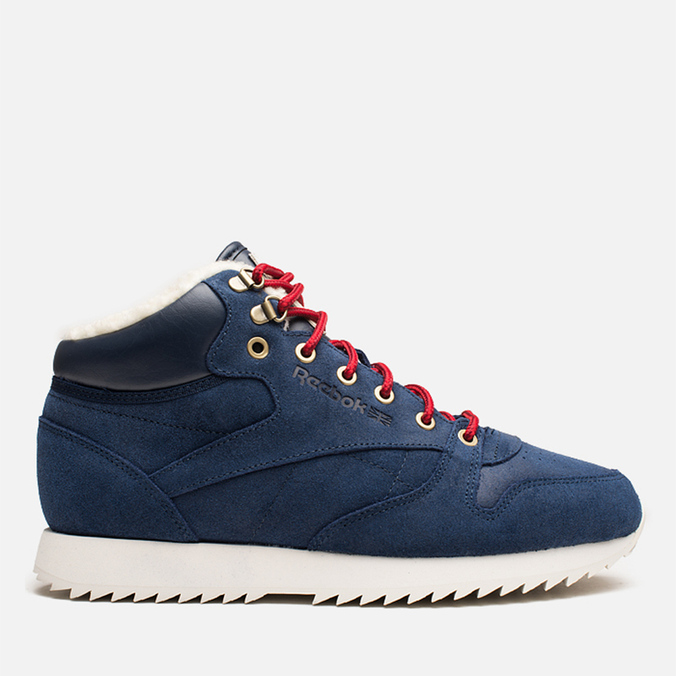 Мужские кроссовки Reebok Classic Leather Mid Ripple WW Navy/White
