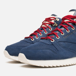 Мужские кроссовки Reebok Classic Leather Mid Ripple WW Navy/White фото- 5