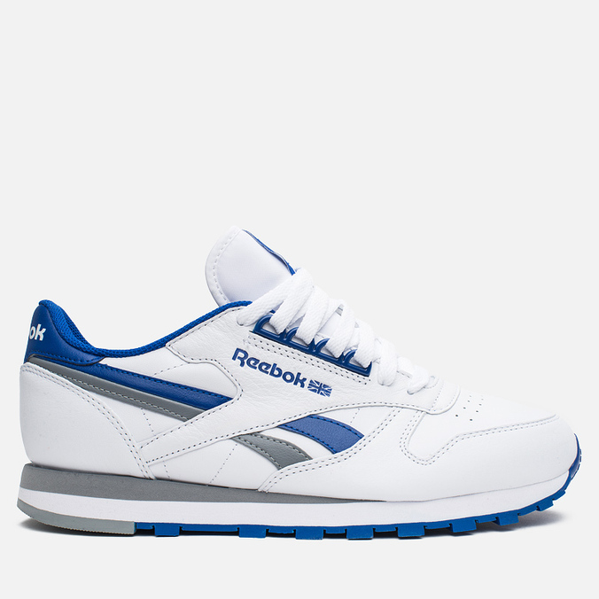 Мужские кроссовки Reebok Classic Leather RE Heritage White/Royal/Grey
