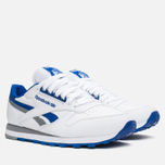 Мужские кроссовки Reebok Classic Leather RE Heritage White/Royal/Grey фото- 1