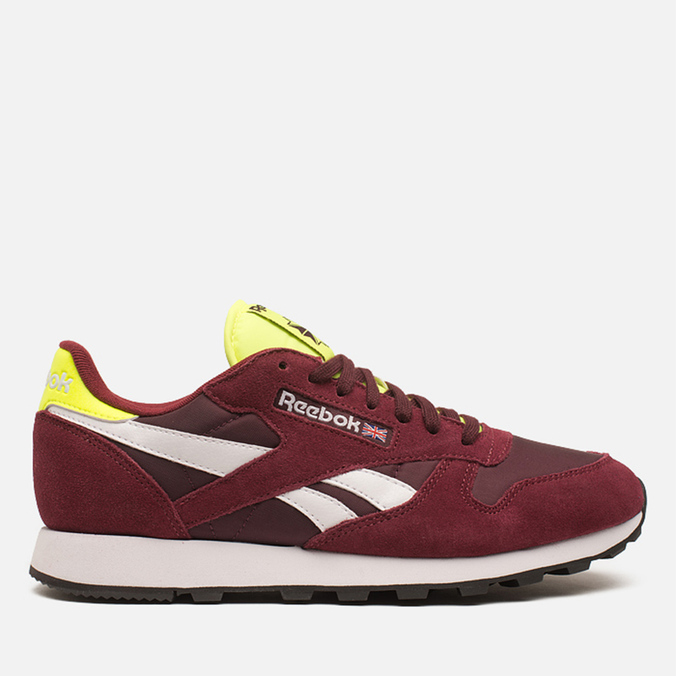 Мужские кроссовки Reebok Classic Leather Sport Burgundy/Dark Red/Yellow
