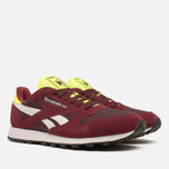 Мужские кроссовки Reebok Classic Leather Sport Burgundy/Dark Red/Yellow фото- 1
