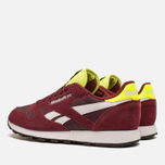 Мужские кроссовки Reebok Classic Leather Sport Burgundy/Dark Red/Yellow фото- 2