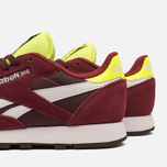 Мужские кроссовки Reebok Classic Leather Sport Burgundy/Dark Red/Yellow фото- 6