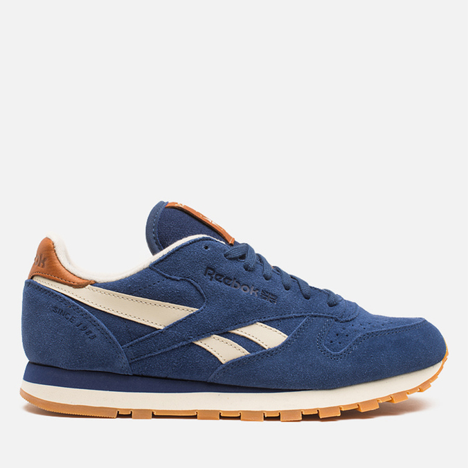 Мужские кроссовки Reebok Classic Leather Suede Club Blue/Paper White