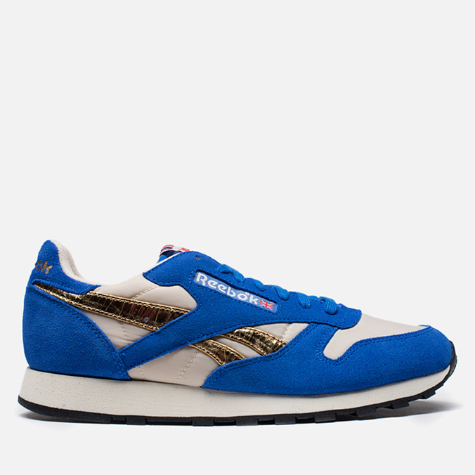 Мужские кроссовки Reebok Classic Leather Vintage Inspired Blue/Steel/Brass