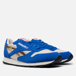 Мужские кроссовки Reebok Classic Leather Vintage Inspired Blue/Steel/Brass фото- 1
