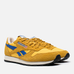 Мужские кроссовки Reebok Classic Leather Vintage Inspired Khaki/Lemon/Blue фото- 1