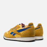Мужские кроссовки Reebok Classic Leather Vintage Inspired Khaki/Lemon/Blue фото- 2