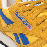 Мужские кроссовки Reebok Classic Leather Vintage Inspired Khaki/Lemon/Blue фото- 7