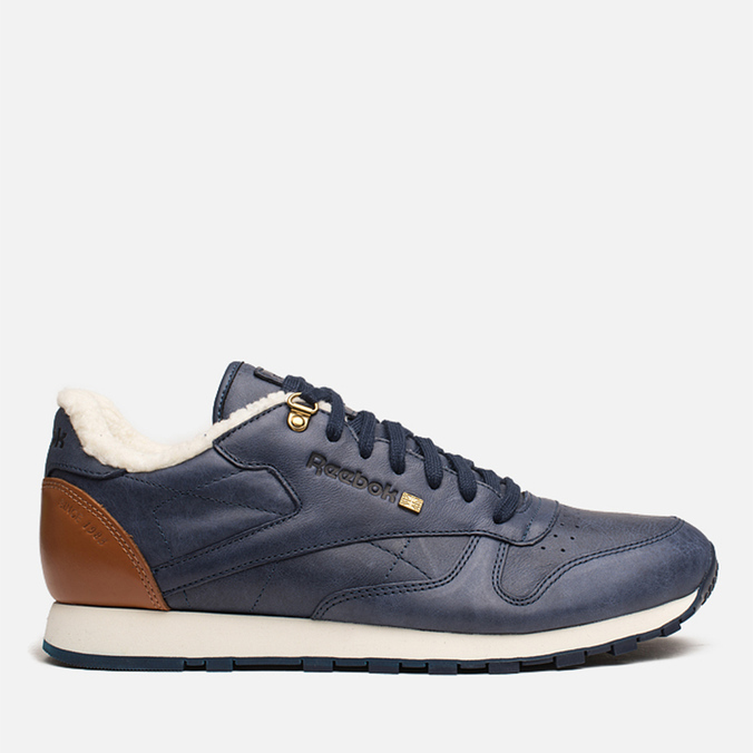 Мужские кроссовки Reebok Classic Leather Winter Navy/Brown