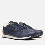 Мужские кроссовки Reebok Classic Leather Winter Navy/Brown фото- 1