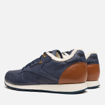 Мужские кроссовки Reebok Classic Leather Winter Navy/Brown фото- 3