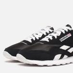 Мужские кроссовки Reebok Classic Nylon Black/White фото- 5