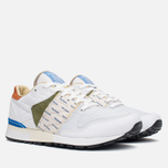 Мужские кроссовки Reebok x Garbstore Classic Leather 6000 White/Green/Blue фото- 1
