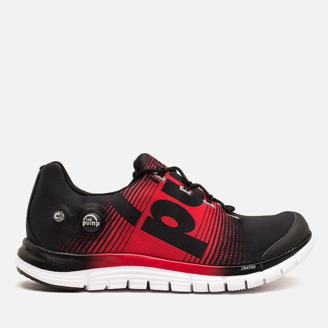 Мужские кроссовки Reebok ZPump Fusion Black/Red Rush/White