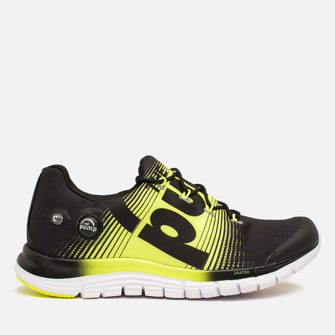 Мужские кроссовки Reebok ZPump Fusion Black/Solar Yellow/White