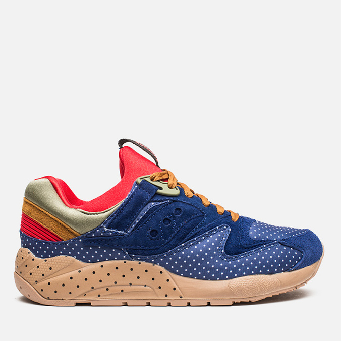 Saucony x Bodega Polka Dot Grid 9000 Sneakers Blue/Tan