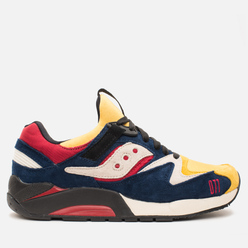 Мужские кроссовки Saucony x Play Cloths Grid 9000 Motocross Sneakers Yellow/Navy/White