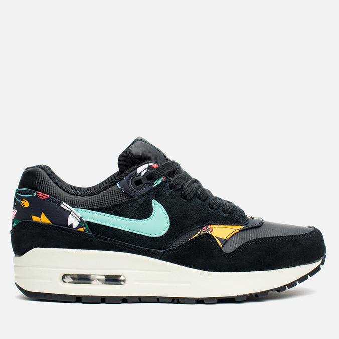 Женские кроссовки Nike Air Max 1 Print Black/Artisan Teal