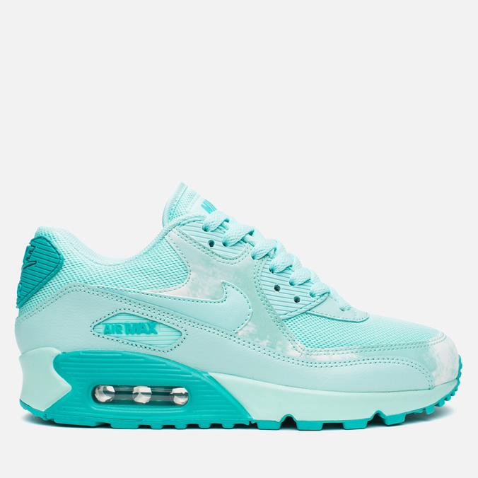 Женские кроссовки Nike Air Max 90 Print Teal/White
