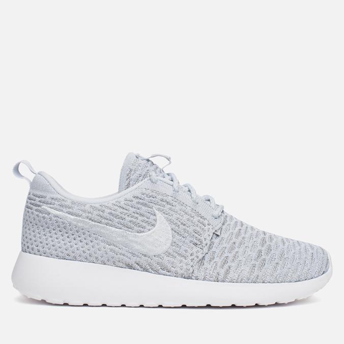 Женские кроссовки Nike Rosherun Flyknit Wolf Grey/Platinum