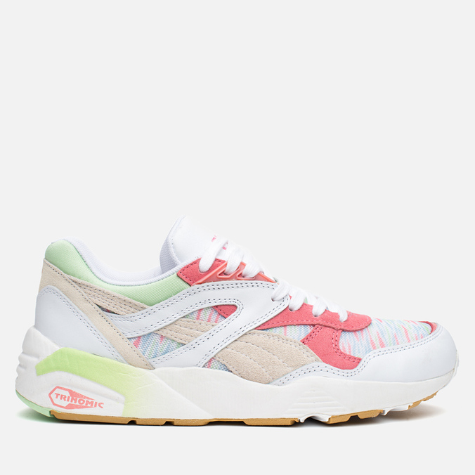 Женские кроссовки Puma R698 Coastal Whisper White/Patina Green