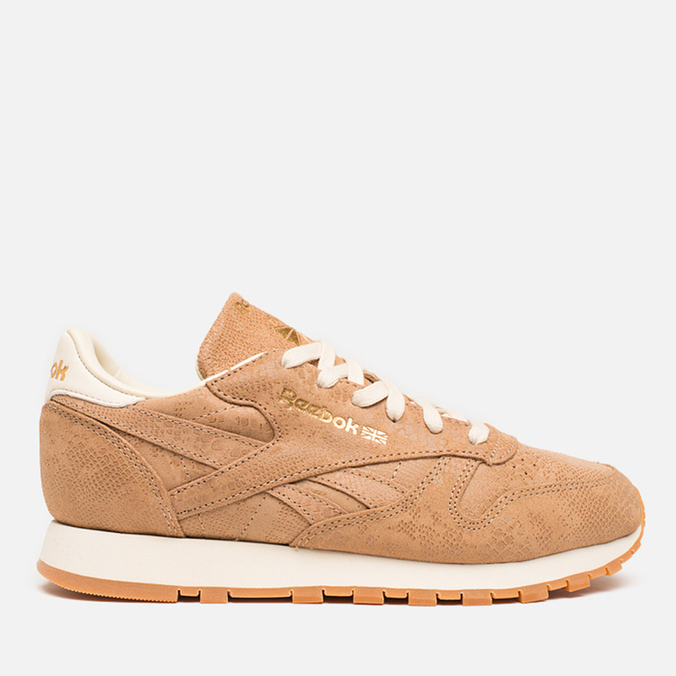Женские кроссовки Reebok Classic Leather Exotics Matte Gold