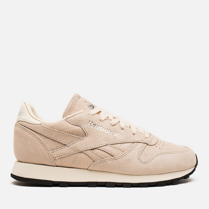 Женские кроссовки Reebok Classic Leather Exotics Metallic Silver