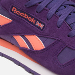 Reebok Classic Leather Seasonal II Women's Sneakers Violet/Coral/White photo- 7