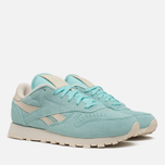 Женские кроссовки Reebok Classic Leather Suede Crystal Blue/Paper White фото- 1