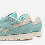 Женские кроссовки Reebok Classic Leather Suede Crystal Blue/Paper White фото- 6