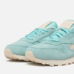 Женские кроссовки Reebok Classic Leather Suede Crystal Blue/Paper White фото- 5