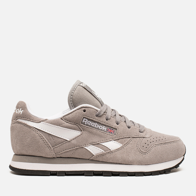 Женские кроссовки Reebok Classic Leather Suede Solid Grey/White