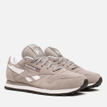 Женские кроссовки Reebok Classic Leather Suede Solid Grey/White фото- 1