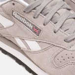 Женские кроссовки Reebok Classic Leather Suede Solid Grey/White фото- 7