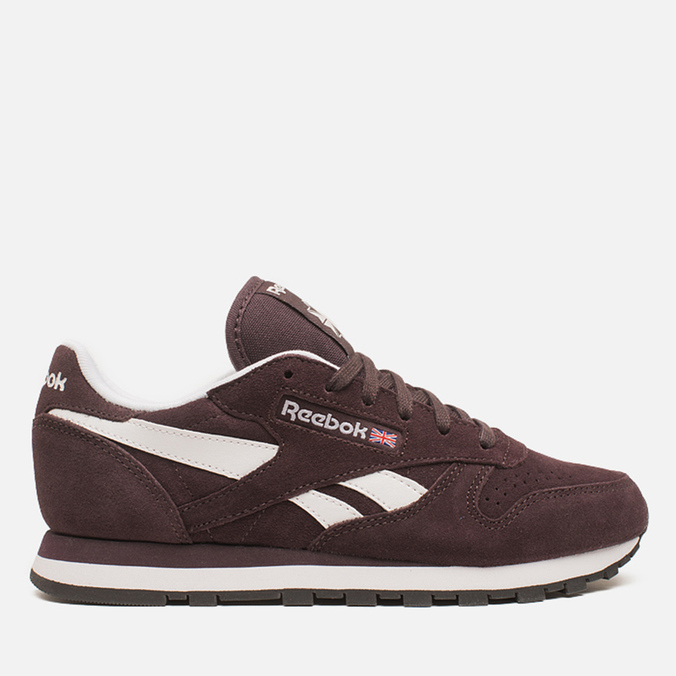 Женские кроссовки Reebok Classic Leather Suede Urban Plum/White