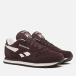 Женские кроссовки Reebok Classic Leather Suede Urban Plum/White фото- 1