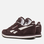 Женские кроссовки Reebok Classic Leather Suede Urban Plum/White фото- 2