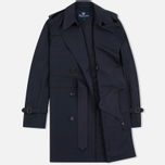 Aquascutum Longford Packaway Double Breasted Men`s Trench Coat Navy photo- 1