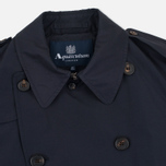Aquascutum Longford Packaway Double Breasted Men`s Trench Coat Navy photo- 2