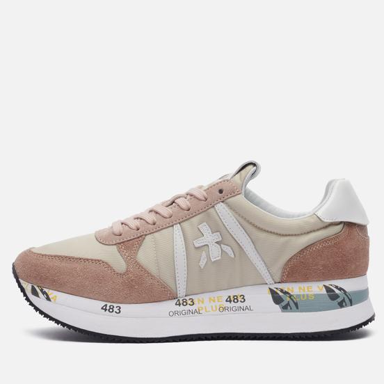 Женские кроссовки Premiata Tris 5404 Ivory/Dust Pink