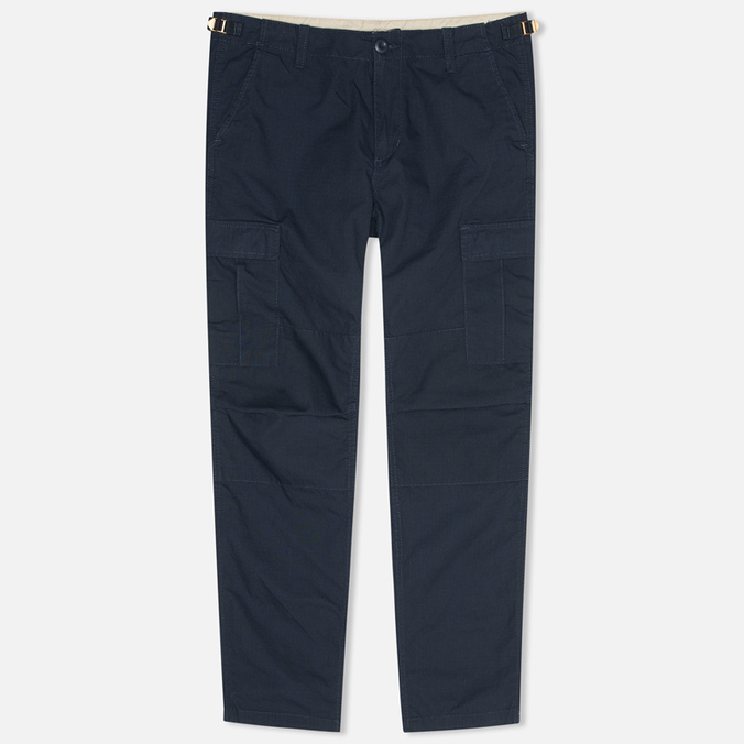 Мужские брюки Carhartt WIP Aviation Columbia Ripstop Duke Blue Rinsed