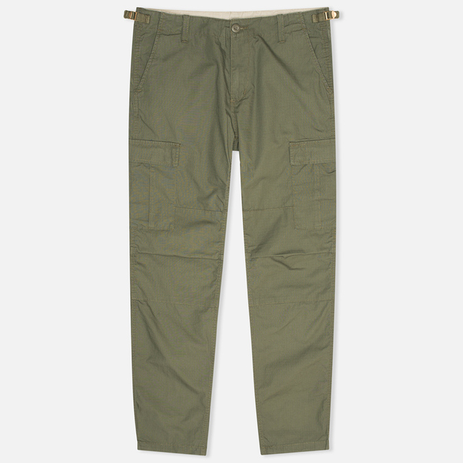 Мужские брюки Carhartt WIP Aviation Columbia Ripstop Leaf Rinsed